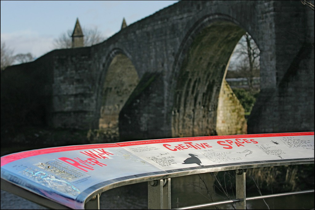Interpretation Panel by the old Stirling Bridge
